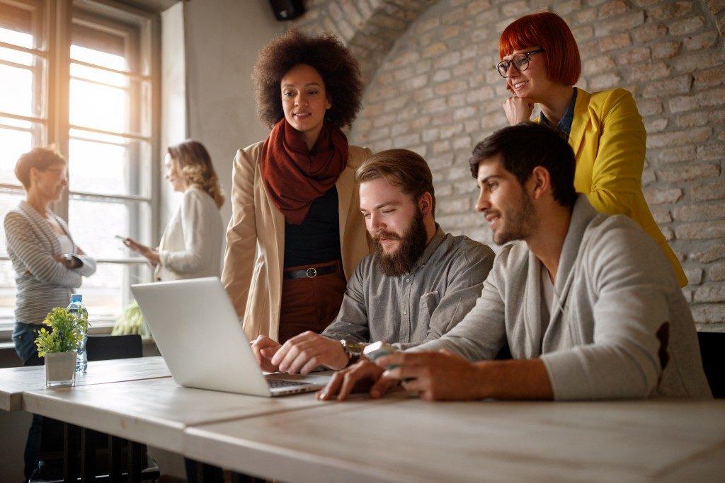 Digital team working