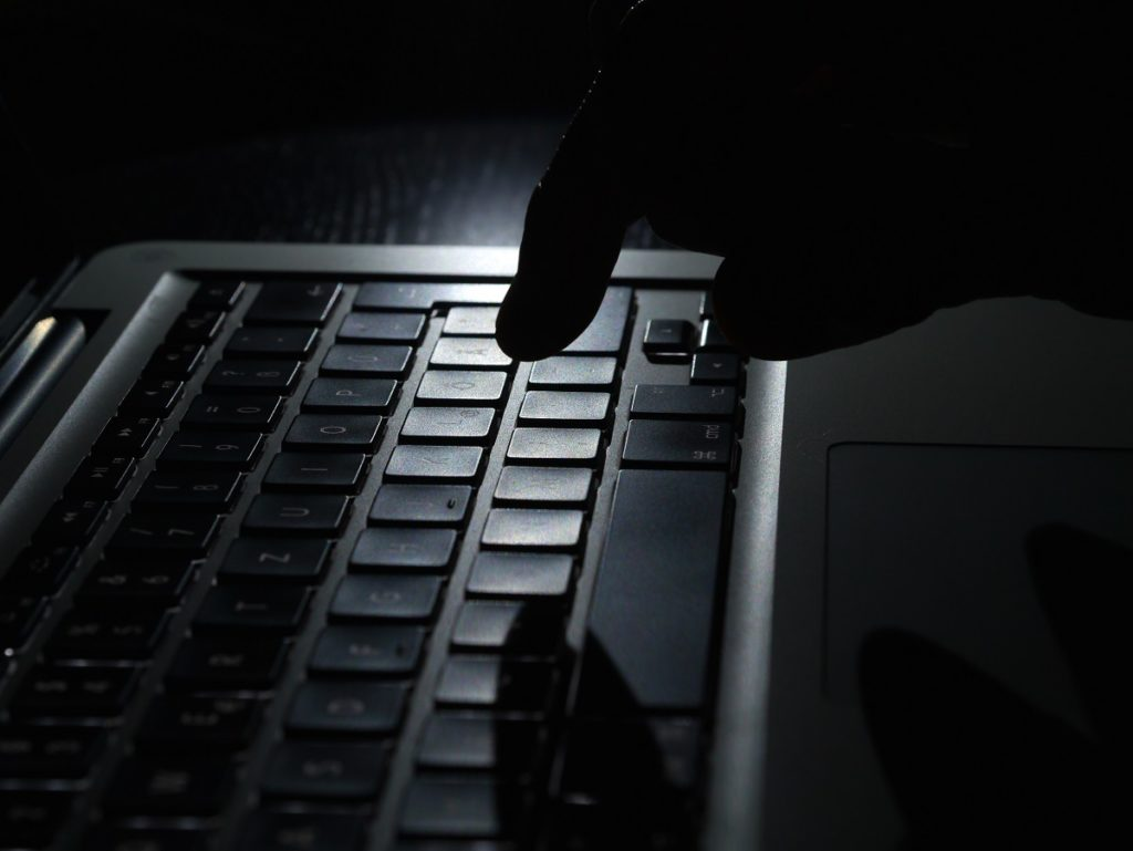 Hacker or illegal activity online